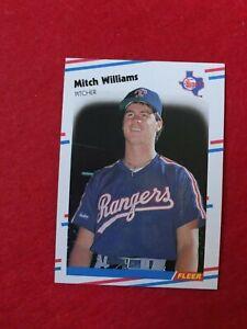 BASEBALL-TRADING-CARD-FLEER-1988-482-MITCH-WILLIAMS-SS63