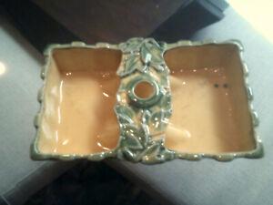 McCoy pottery dish yellow