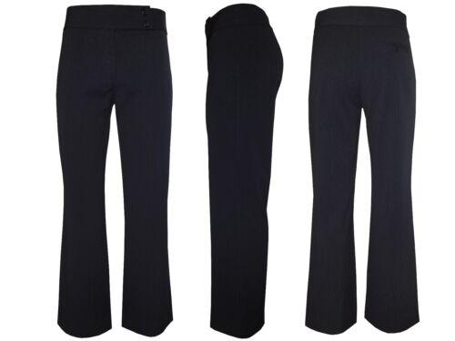 WOMANS Pantaloni a gamba larga su misura bootcut Ufficio Lavoro Smart Pantaloni Nero Formale