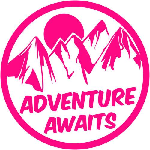 "Adventure Awaits Patch 12/"" Decal Sticker Vinyl hiking outdoor explore wanderlust"