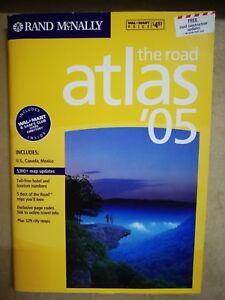 Brand-New-Rand-McNally-the-Road-Atlas-2005-Vinyl-Covered-Edition-Walmart