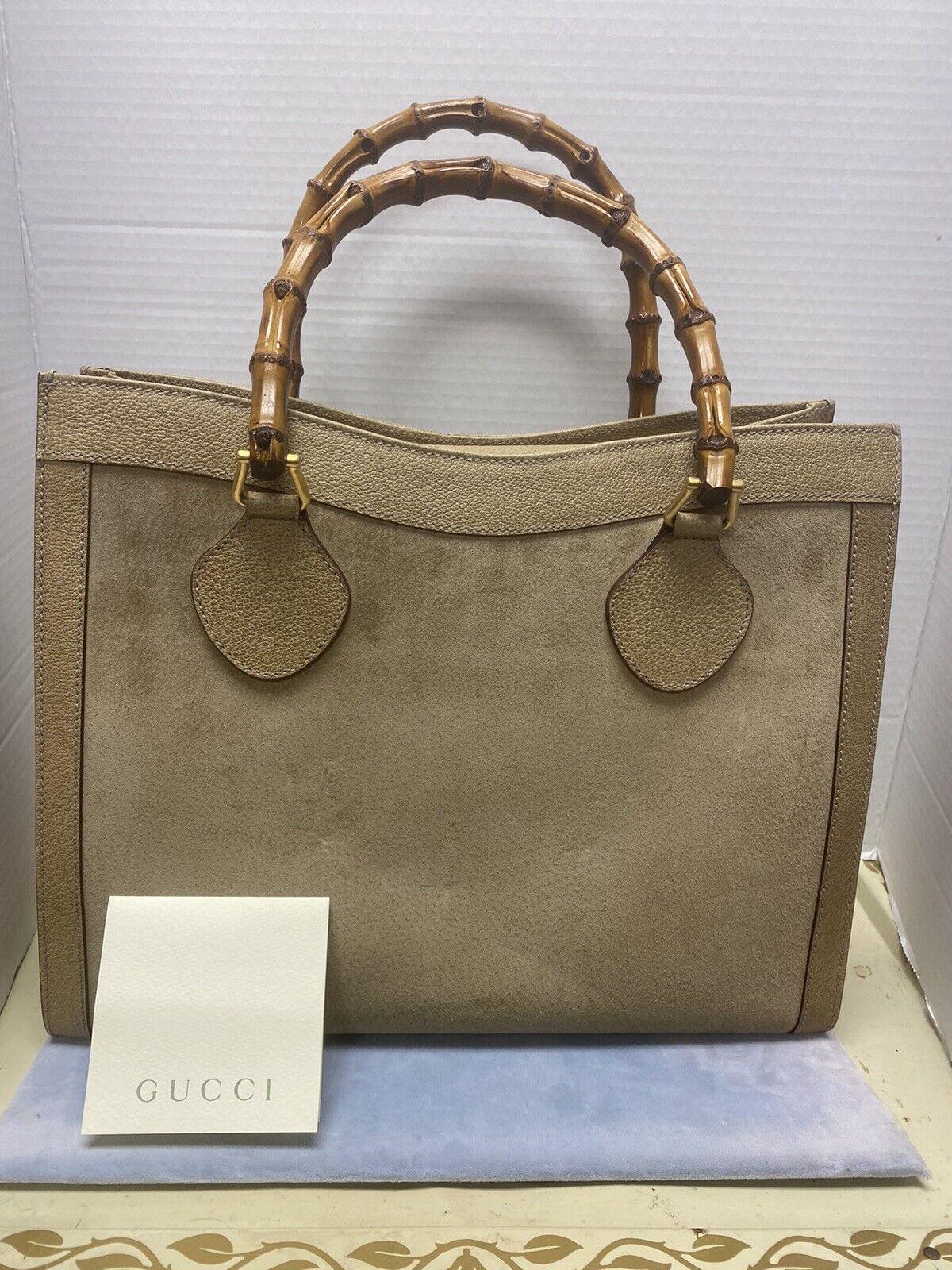 Gucci Handbag Tote Leather Diana Bamboo Handle Bo… - image 1