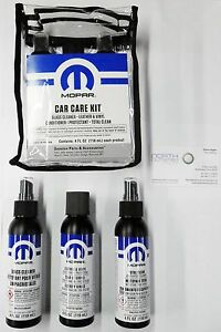 mopar interior car care kit ram wrangler charger 300 200 cherokee renegade dart ebay. Black Bedroom Furniture Sets. Home Design Ideas