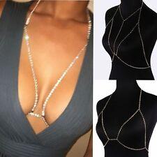 Pretty Shiny Crystal Rhinestone Bra Chest Body Chain Harness Necklace Jewelry2