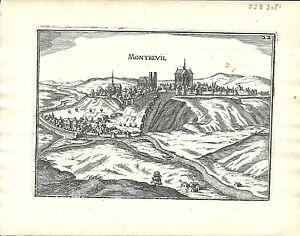 Antique-map-Montreuil-Montreuil-sur-Mer