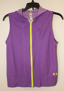 eac383d153d5a Image is loading Girl-039-s-Under-Armour-Sleeveless-Hoodie-Reversible-