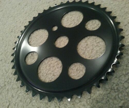 BLACK LUCKY 7 BICYCLE SPROCKET 1//2x1//8  44 TOOTH BEACH CRUISERS VINTAGE STYLE