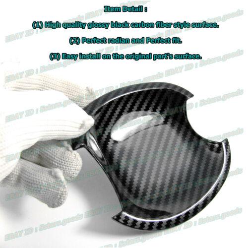 For 2012-2015 Honda Civic Coupe Carbon Fiber Side Door Handle Bowl Covers Trims