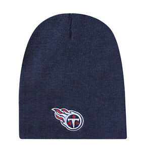 aa3f4f05a0a Image is loading Tennessee-Titans-Blue-Uncuffed-Knit-Cap-NEW-Winter-