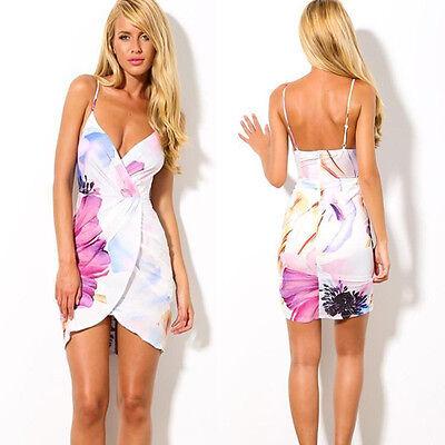 Sexy Women Dress Slim Summer Dress Floral Gallus Backless Beach Dress Casual