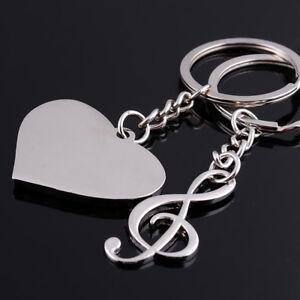 Love-Couple-Music-Note-Pendant-Key-Ring-Key-Chain-Keyring-Charm-Car-Keychain