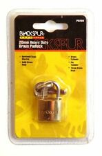 New Brass pad lock 20mm Hardened steel shackle & solid brass body.double PD209