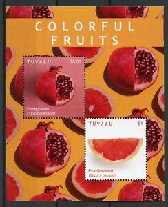 Tuvalu-2018-MNH-Colorful-Fruits-Pomegranate-Grapefruit-2v-S-S-Nature-Stamps