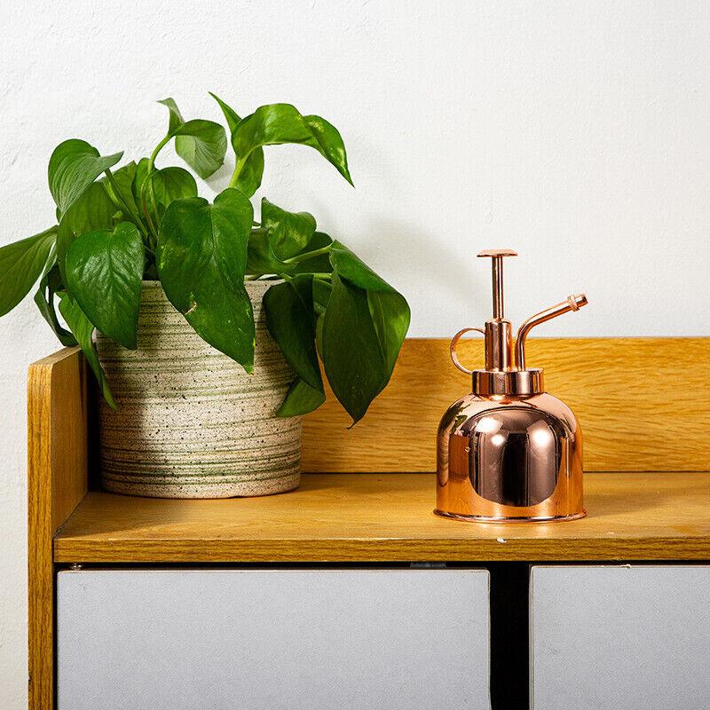 Vintage Stainless Steel Flower Watering Pot Mini Spray Bottle Garden Sprayer