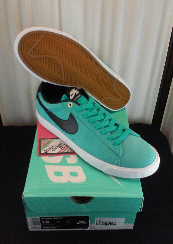 Nike sb blazer basso gt dimensioni 10-deadstock-704939 401 tiff blu