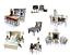 MiniMolly-Dollhouse-1-6-Barbie-Size-BUNDLE-Kitchen-Dining-Bed-Lounge-Chair-Desk thumbnail 1