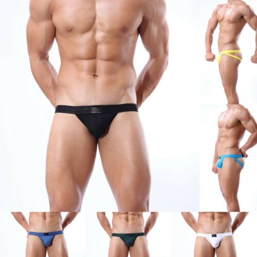US Stock Men/'s Modal Athletic Performance Pouch Jockstrap Underwear Thong