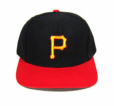 90S DEADSTOCK VTG PITTSBURGH PIRATES TWINS ENT. SNAPBACK HAT OG ON FIELD NOS MLB