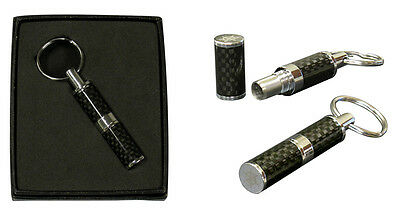 Cigar Punch Cutter - Carbon Fiber - Key Chain and Gift Box - Prestige Import