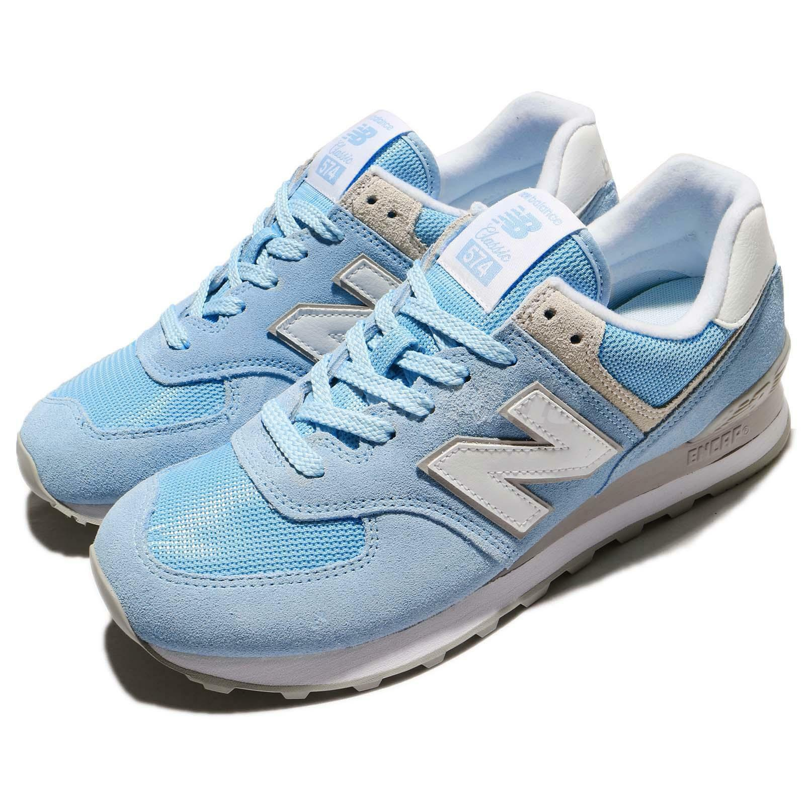 New Balance WL574ESB B 574 Blue White Donna Running Shoes  WL574ESBB