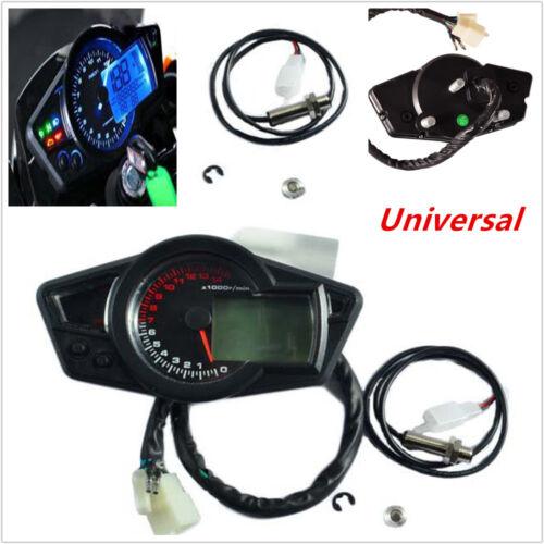 Motorcycle Scooter 15000RPM LCD Digital Odometer Speedometer Tachometer Gauge