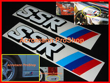"2x 8.5"" 21.6cm SSR Decal Sticker racing wheel JDM Speed Star type C F RS GT sp1"