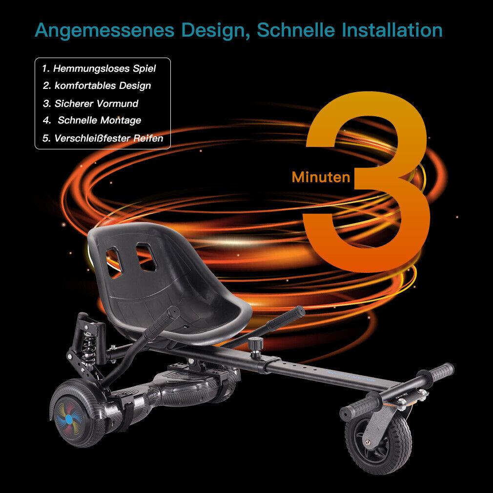 Hoverkart Go Kart Sitz für alle Hover boards mit Stoßdämpfer Geschenk für Kinder