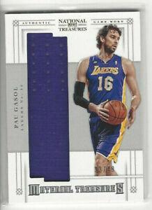 2012-13-National-Treasures-Material-Treasures-3-Pau-Gasol-d-32-49-L-A-Lakers