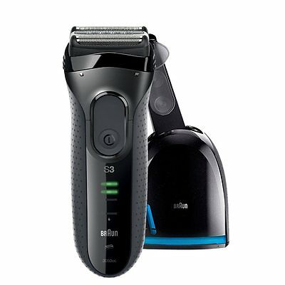 Braun 3050CC Series 3 Rechargeable Shaver with Clean&Charge