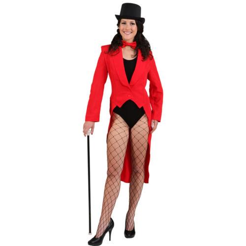 Tailcoat for Women Women/'s Tuxedo Red Cabaret Costume Showgirl Revue frauenfrack