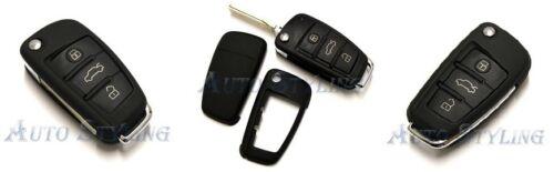 Audi Black Remote Flip Key Cover Case Skin Shell Cap Fob Protection Bag Hull 58