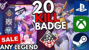 20 KILL Badge SALE BOOST ANY LEGEND - Apex Legends - PS4/XBOX/PC - Wake Badge