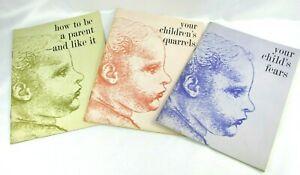 1957 1960 Ross Laboratories Booklet Lot 3 Your Child's Fears Quarrels Parenting