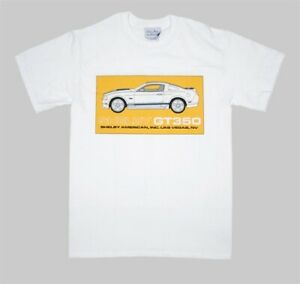Shelby-GT350-2011-Launch-T-Shirt-XL-Original-Shelby-NOS-Yellow-Graphics