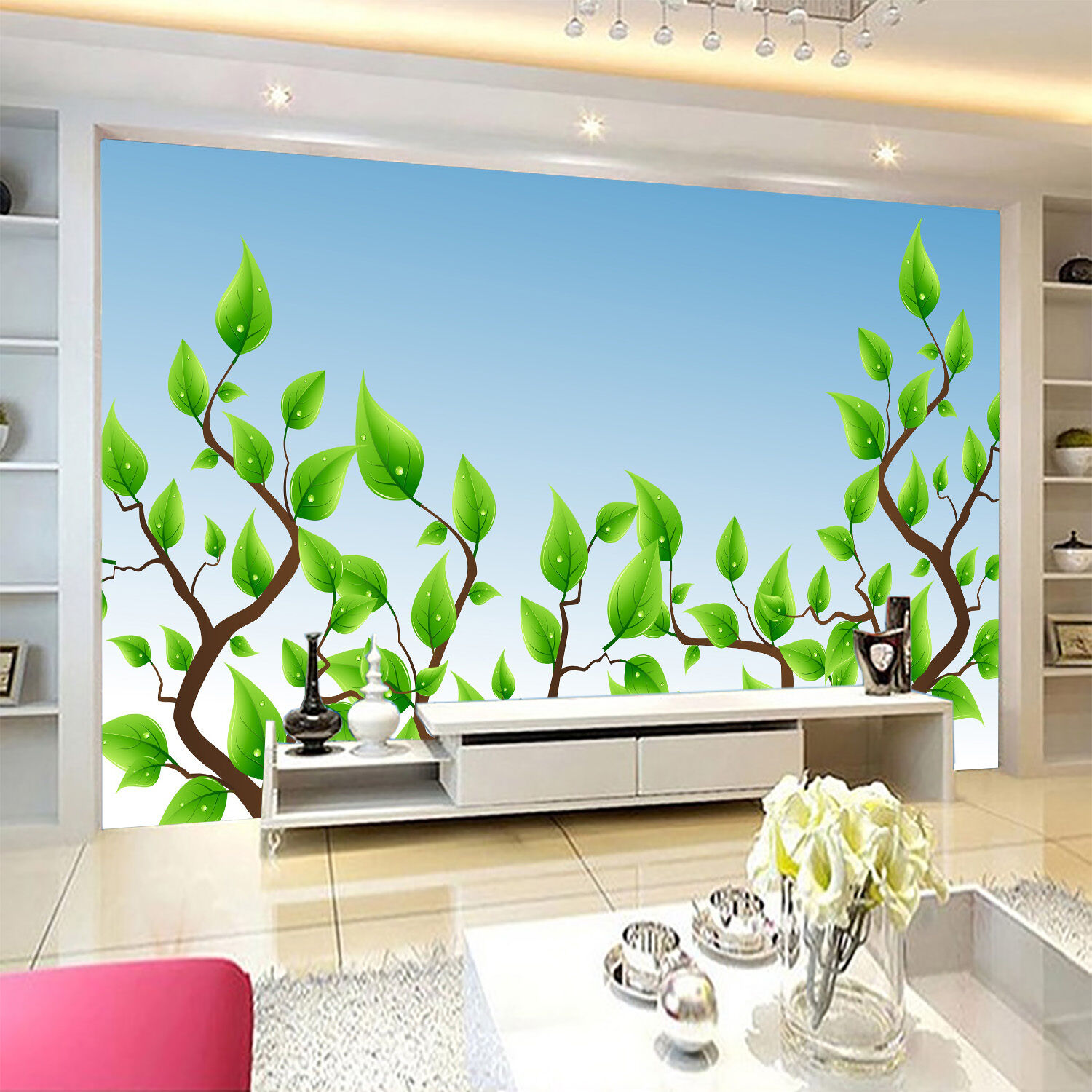 3D Green Vines Painted Wall Paper Murals Wall Print Decal Wall Deco AJ WALLPAPE