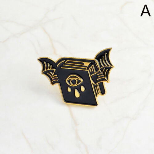 PunkBat Evil Eye Ghost Enamels Halloween Soul Brooch Pin Shirt Denim Jacket-PiJB