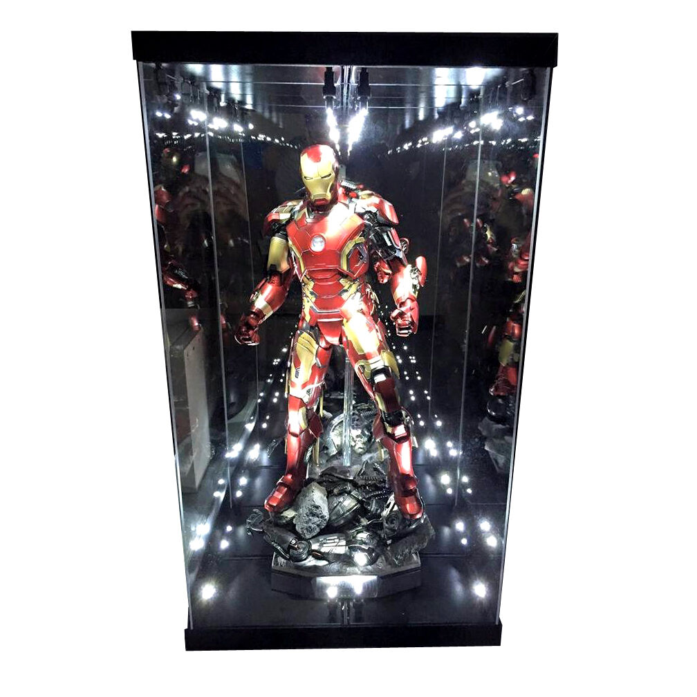 Acrylic Display Case Light Box for for for Hot Toys 1 4 Quarter Scale Figure Mark 43 45 c0038a