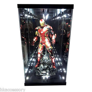 Acrylic Display Case Light Box For Hot Toys 1 4 Quarter Scale Figure