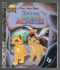 Little Golden Book - The Lion King: The Cave Monster {1st Ed 1996} Good