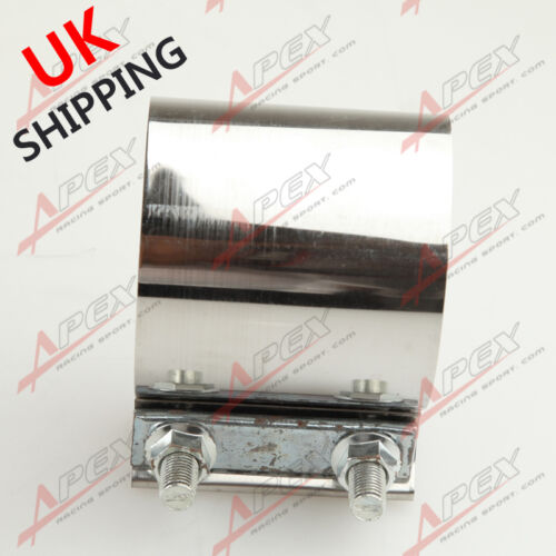 """3/"""" Stainless Steel 3 inch Exhaust Flat Band Clamp UK"""