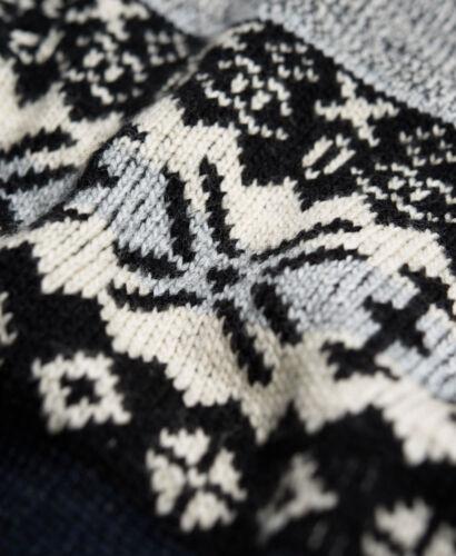 Superdry Japon Royaume-Uni Anthracite Twist Monochrome ras du cou M L XL XXL
