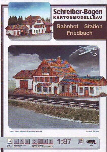 Schreiber-Bogen Kartonmodellbau Bahnhof Friedbach