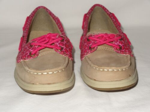 Sider Girls Youth Laguna Greige Animal Casual Boat Shoe SIze 1 2 3 5 Sperry Top