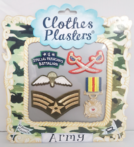 Iron On Embroidered Army Patches Set of 5 Sew Forces Badges Clothes Transfer