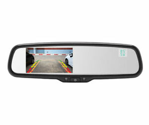 Crimestopper-MIRACT-Universal-4-3-034-LCD-Rear-View-Mirror-Monitor-System