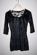Okay Fashion Designer Style Women's 3/4 Sleeve Black Polyester Blend Top Size 36
