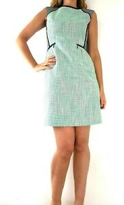 M-amp-S-Boucle-Shift-Wiggle-Pencil-Mint-Green-Dress-Slimming-Hourglass-Work-Size-10
