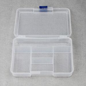 Plastic 5 Grid Jewelry Ring Craft Organizer Box Tray Holder Earring Storage Case