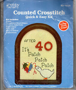 1987-hobby-kraft-Counted-Cross-Stitch-Quick-Easy-Kit-8725-After-40