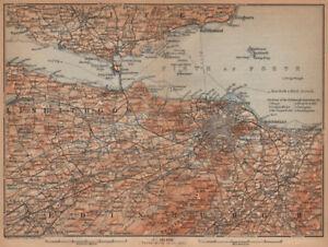 Leith Scotland Map.Edinburgh Environs Firth Of Forth Fife Leith Dunfermline Scotland